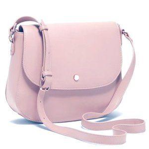 Faux Leather Saddle Bag / Crossbody